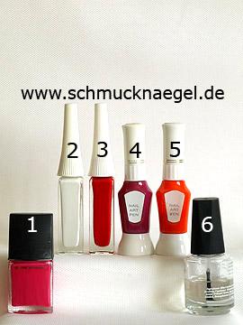 Produkte für das Motiv 'Cupcake Mini-Törtchen als Fingernagel Design' - Nagellack, Nailart Liner, Nailart Pen