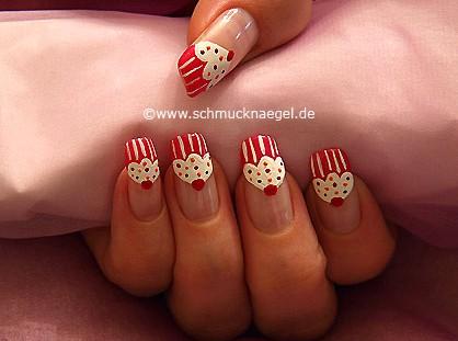 Cupcake Mini-Törtchen als Fingernagel Design