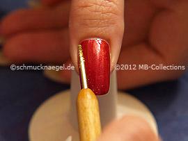 Glitter-Pulver in der Farbe gold