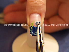 3D Delfin Nail Sticker und Pinzette