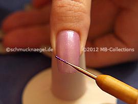 Mikroperlen in lila und Spot-swirl