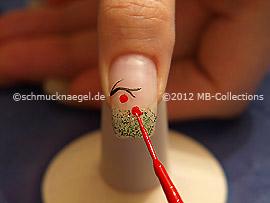 Nailart Liner in der Farbe rot