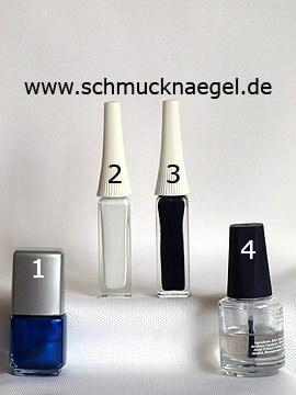 Produkte für das Motiv 'Smoking-Fliege mit Nagellack als French Motiv' - Nagellack, Nailart Liner
