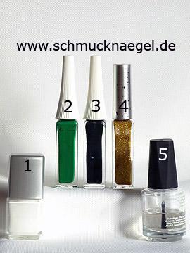 Produkte für das Design 'Gecko als Motiv für die Fingernägel' - Nagellack, Nailart Liner