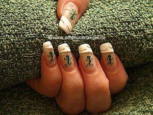 Gecko als Motiv für die Fingernägel