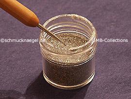 Glitter-Pulver in der Farbe silber