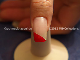 Nagellack in der Farbe rot