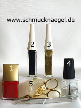 Produkte für das Design 'Reißverschluss als Fingernagel Motiv' - Nagellack, Nailart Liner