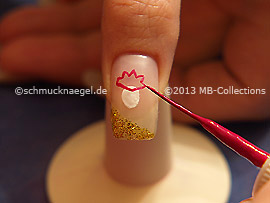 Nailart Liner in der Farbe pink