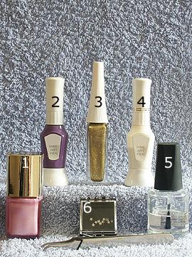 Produkte für das Motiv French mit Strassstein - Nagellack, Strasssteine, Nailart Liner, Nailart Pen, Klarlack