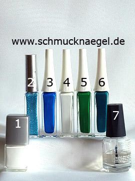 Produkte für das Design 'Glockenblume als Fingernagel Motiv' - Nagellack, Nailart Liner