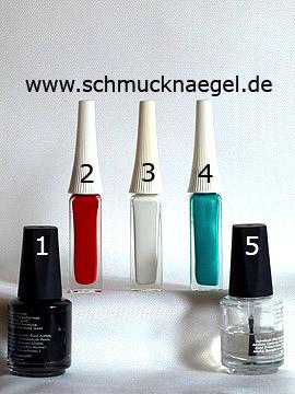Produkte für das Design 'Vintage Blumen als Nailart Motiv' - Nagellack, Nailart Liner