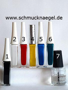 Produkte für das Papagei Motiv für die Fingernägel - Nailart Liner