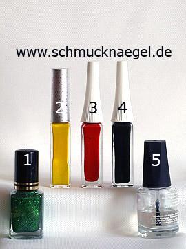 Produkte für das Design 'Biene und Blumen als Nailart Motiv' - Nagellack, Nailart Liner