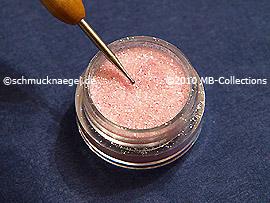 Glitter-Pulver in rosa