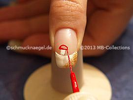 Nailart Liner in den Farben weiß und rot
