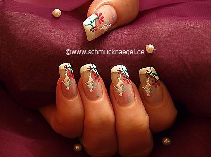 Elfen Fingernagel Sticker und Nagellack