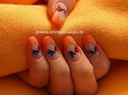 Schmetterlinge für die Fingernägel