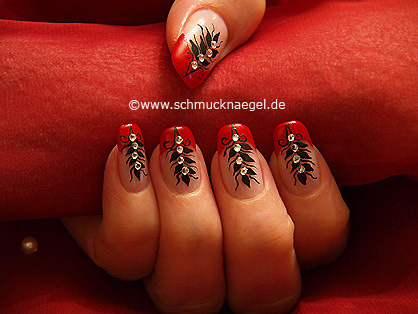 French Ornament Motiv für die Fingernägel - Nailart 379
