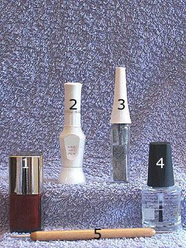 Produkte für das Motiv Fullcover Ziehtechnik - Nagellack, Nailart Liner, Nailart Pen, Spot-Swirl, Klarlack