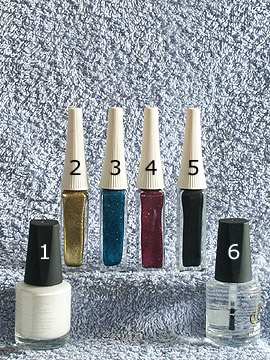 Produkte für das French Fingernagel Motiv - Nagellack, Nailart Liner, Klarlack