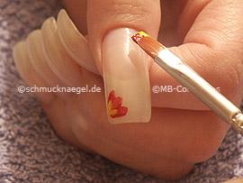 Flachpinsel mit Acrylfarben