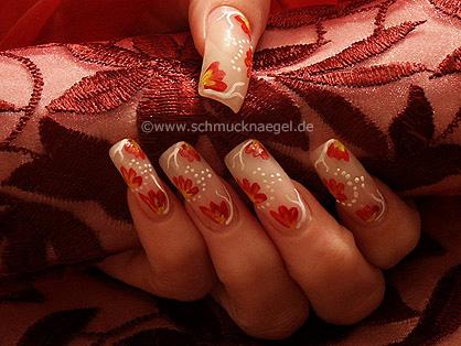 Blütenblätter mit Acrylfarben