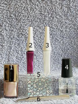 Produkte für das Libelle Sommer Motiv - Nagellack, 3D Nail Sticker, Nailart Liner, Klarlack