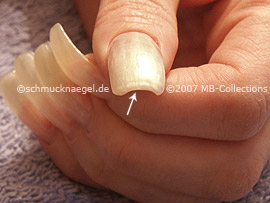 Nagellack in der Farbe hellrosa