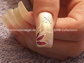 3D Nail Sticker in der Form einer Libelle oder eines Schmetterlings und Pinzette