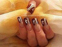 Dunkelrot Glitter French Design