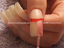 Nagellack in der Farbe rosa