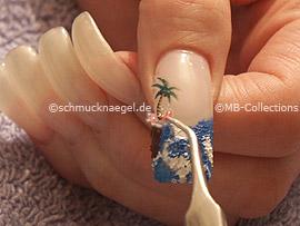 3D Nail Sticker und Pinzette