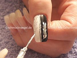 Nailart Liner in silber-glitter