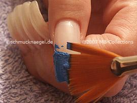 Fächerpinsel mit Acrylfarben