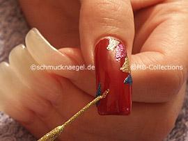 Nailart Liner in den Farben gold-glitter und blau-glitter