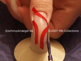 Nagellack in der Farbe flieder