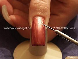Nailart Liner in der Farbe silber