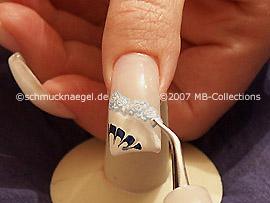 Pinzette und Nail Sticker