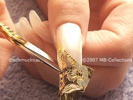 Blattgold und Schere