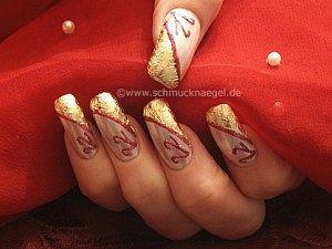 Perlmutt gold Design