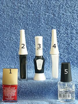 Produkte für das Spinnenmotiv für Halloween - Nagellack, Nailart Pen, Nailart Liner, Klarlack