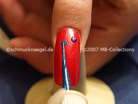 Nail art liner de color azul-Glitter