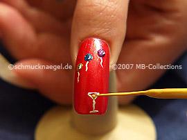 Nail art liner de color oro-metálico