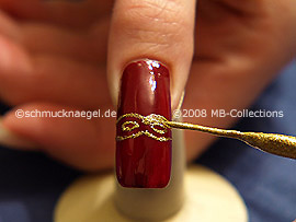 Nail art liner de color oro-Glitter