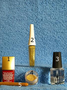 Productos para motivo uñas decoradas para el día de los enamorados - Esmalte, Nail art liner, Esmalte transparente, Nail art bouillons, Spot-Swirl