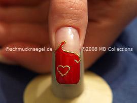 Día de los enamorados motivo 1: Nail Art Motivo 103