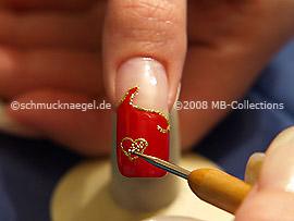 Nail art bouillons en oro