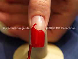 Esmalte en color rojo