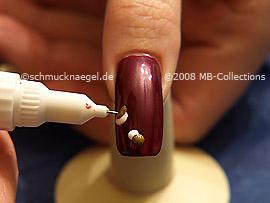 Nail art pen de color bronce
